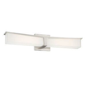 Plane Brushed Nickel 24-Inch LED Bath Bar