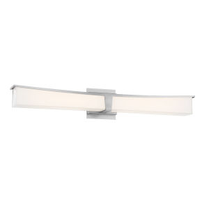 Plane Brushed Nickel LED Bath Bar