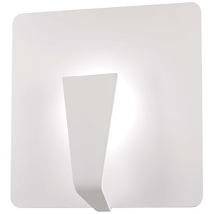 Waypoint Sand White 14-Inch LED Wall Sconce