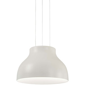 Kettle Up Matte White LED Pendant