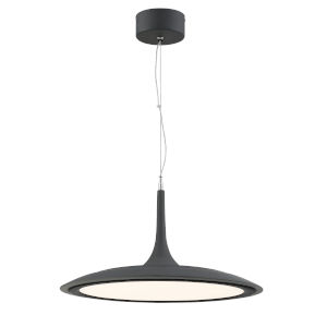 Hover Dark Gray 19-Inch LED Pendant