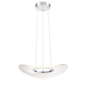 Light Ray Brushed Nickel 20-Inch LED Pendant