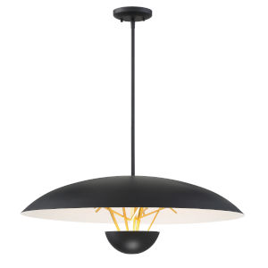 Sun Core Sand Black With Honey Gold 26-Inch LED Pendant
