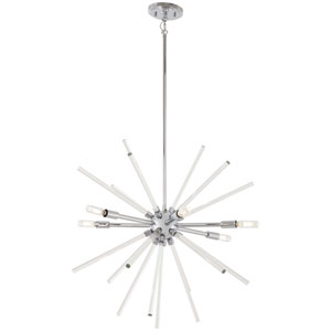Spiked Chrome 25-Inch Six-Light Pendant