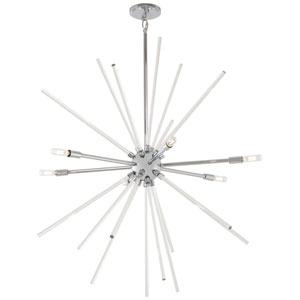 Spiked Chrome Six-Light Pendant