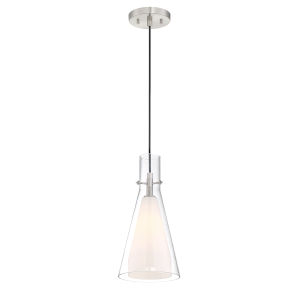 Taper Brushed Nickel 7-Inch One-Light Mini Pendant