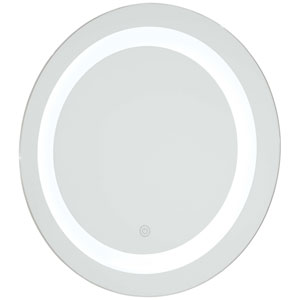 Round 18-Inch LED Lighted Bathroom Mirror