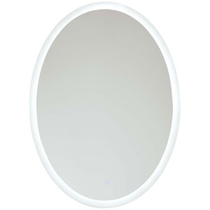 Oval 28 x 20 LED Lighted Bathroom Mirror