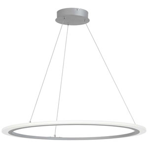 Discovery Silver 32-Inch LED Pendant