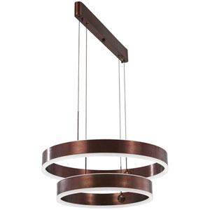 Rendezvous Satin Bronze 24-Inch LED Pendant