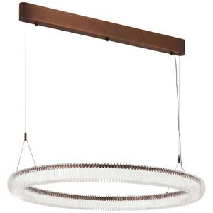 Roulette Satin Bronze 26-Inch LED Pendant