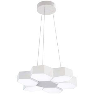 Hexacomb Matte White 19-Inch LED Pendant