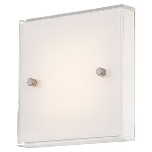 Brushed Nickel LED 6.75-Inch Wall Sconce