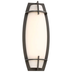 Morida Pebble Bronze Outdoor LED Wall Sconce