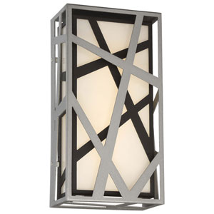 Duvera Sand Silver and Black LED Wall Sconce