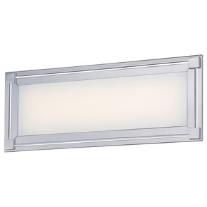 Framed Chrome One-Light 16-Inch Wide LED Bath Light
