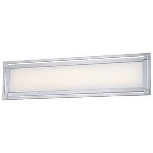 Framed Chrome One-Light 24-Inch Wide LED Bath Light