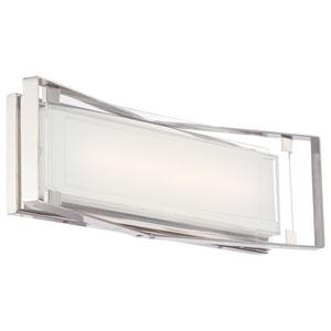 Polished Nickel Three-Light LED Bath Light