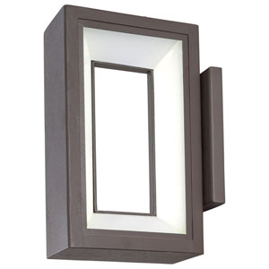 Skylight Textured Dorian Bronze 10-Inch One-Light Outdoor LED Wall Sconce