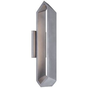 Pitch Sand Silver 18.5-Inch One-Light Outdoor LED Wall Sconce