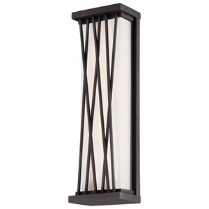 Hedge Textured Dorian Bronze 16-Inch One-Light Outdoor LED Wall Sconce