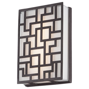 Alecias Necklace Sand Bronze 9-Inch One-Light Outdoor LED Wall Sconce