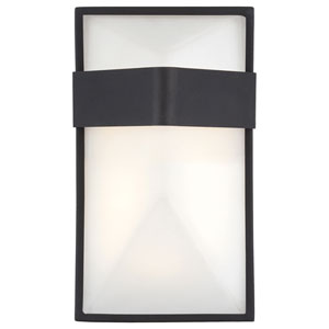 Wedge Black 9-Inch One-Light Outdoor LED Wall Sconce