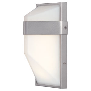 Wedge Silver Dust 9-Inch One-Light Outdoor LED Wall Sconce