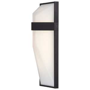 Wedge Black 15-Inch One-Light Outdoor LED Wall Sconce