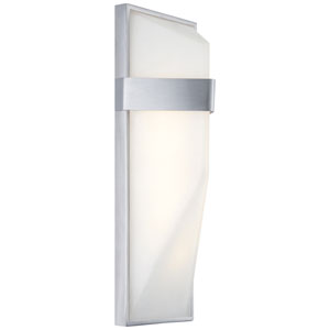 Wedge Silver Dust 15-Inch One-Light Outdoor LED Wall Sconce