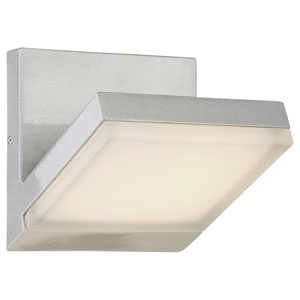 Angle Silver Dust LED Outdoor Wall Sconce