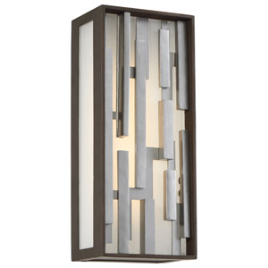 Bars Bronze with Silver LED Outdoor Wall Sconce
