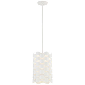Coastal Current Sand White LED Mini Pendant