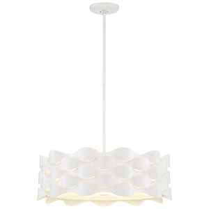 Coastal Current Sand White LED Pendant