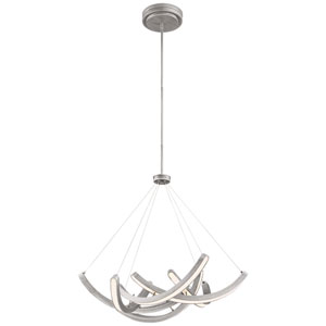 Swing Time Brushed Silver 30-Inch LED Pendant
