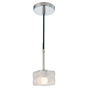 Squared Polished Nickel One-Light Pendant