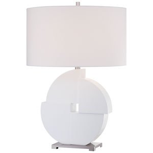 White One-Light Portable Table Lamp