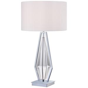 Chrome One-Light 30.75-Inch High Portable Table Lamp