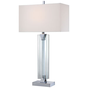 Chrome One-Light 31.5-Inch High Portable Table Lamp