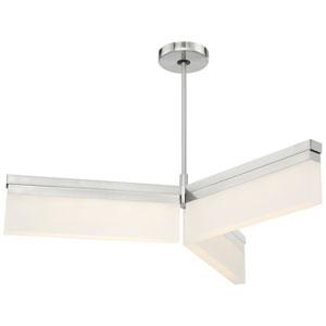 Skinny Brushed Nickel LED Pendant