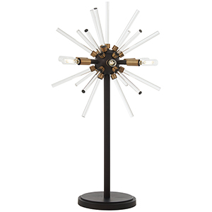 Spiked Painted Bronze 18-Inch LED Table Lamp