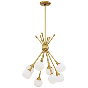 Pontil Honey Gold Eight-Light Chandelier