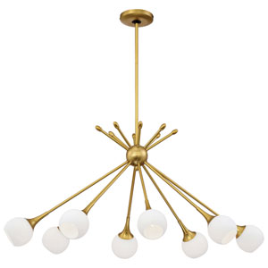 Pontil Honey Gold Eight-Light 22-Inch Chandelier