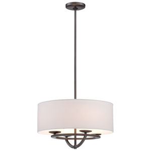 Circuit Smoked Iron Four-Light 18-Inch Wide Drum Pendant