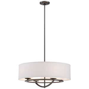 Circuit Smoked Iron Four-Light 24-Inch Wide Drum Pendant