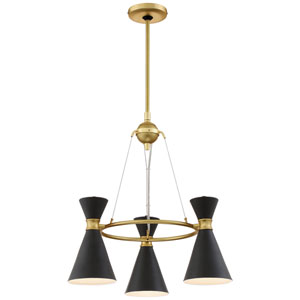 Conic Honey Gold Three-Light Chandelier