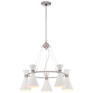 Conic Brushed Nickel Five-Light Chandelier