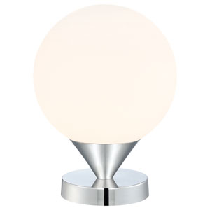 Simple Chrome One-Light Table Lamp