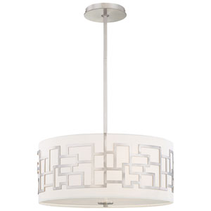Alecia Necklace Brushed Nickel Three-Light Pendant