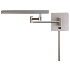 Brushed Nickel 17-Inch One-Light LED Swing Arm Lamp